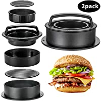 2-Piece 3-In-1 Oamceg Non Stick Burger Patties Cookery Mold