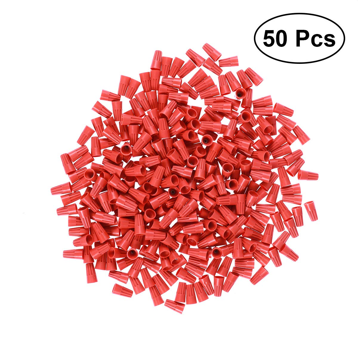 BESTOMZ 500 PCS Outdoor Electrical Wire Connector Wire Crimp Terminals Connectors (Red)