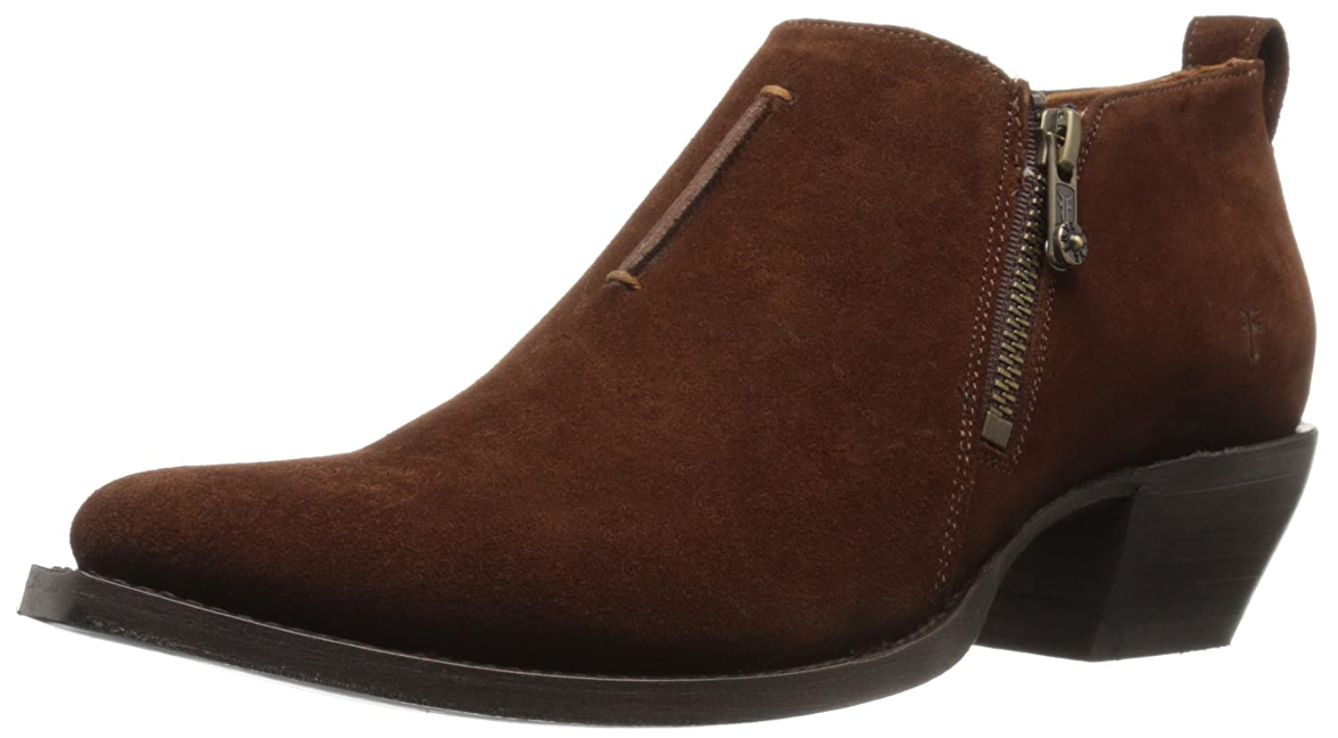 FRYE Women's Sacha Moto Shootie Suede Boot B01944BB6O 7 B(M) US|Brown
