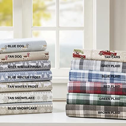 Amazoncom Woolrich Nordic Snowflake Cotton Flannel Sheet Set 2