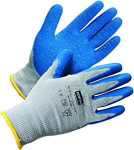 NorthFlex Duro Task Seamless Knit Safety Gloves with Natural Rubber Palm & Fingers, 10 gauge, Large (RWS-57027)