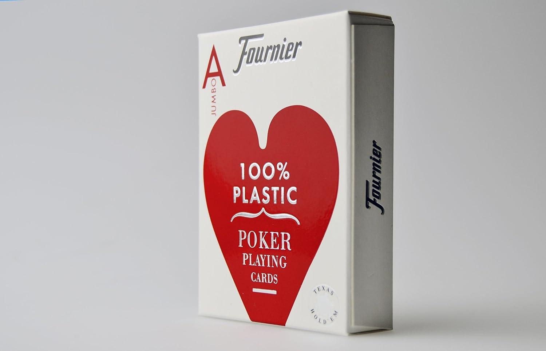 Fournier - Baraja Poker, nº 2800, 55 cartas, color rojo / azul (1028935): Amazon.es: Juguetes y juegos