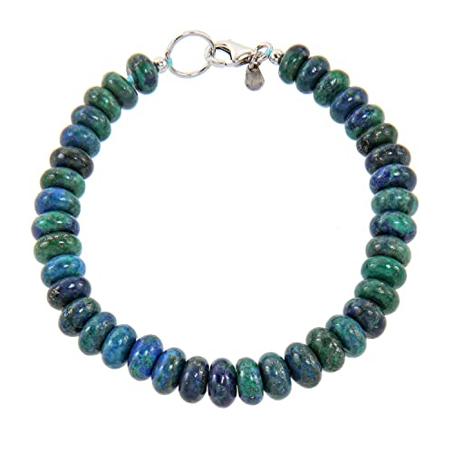 Yvesse Damen-Armband Sterling-Silber 925 rhodiniert Azurit