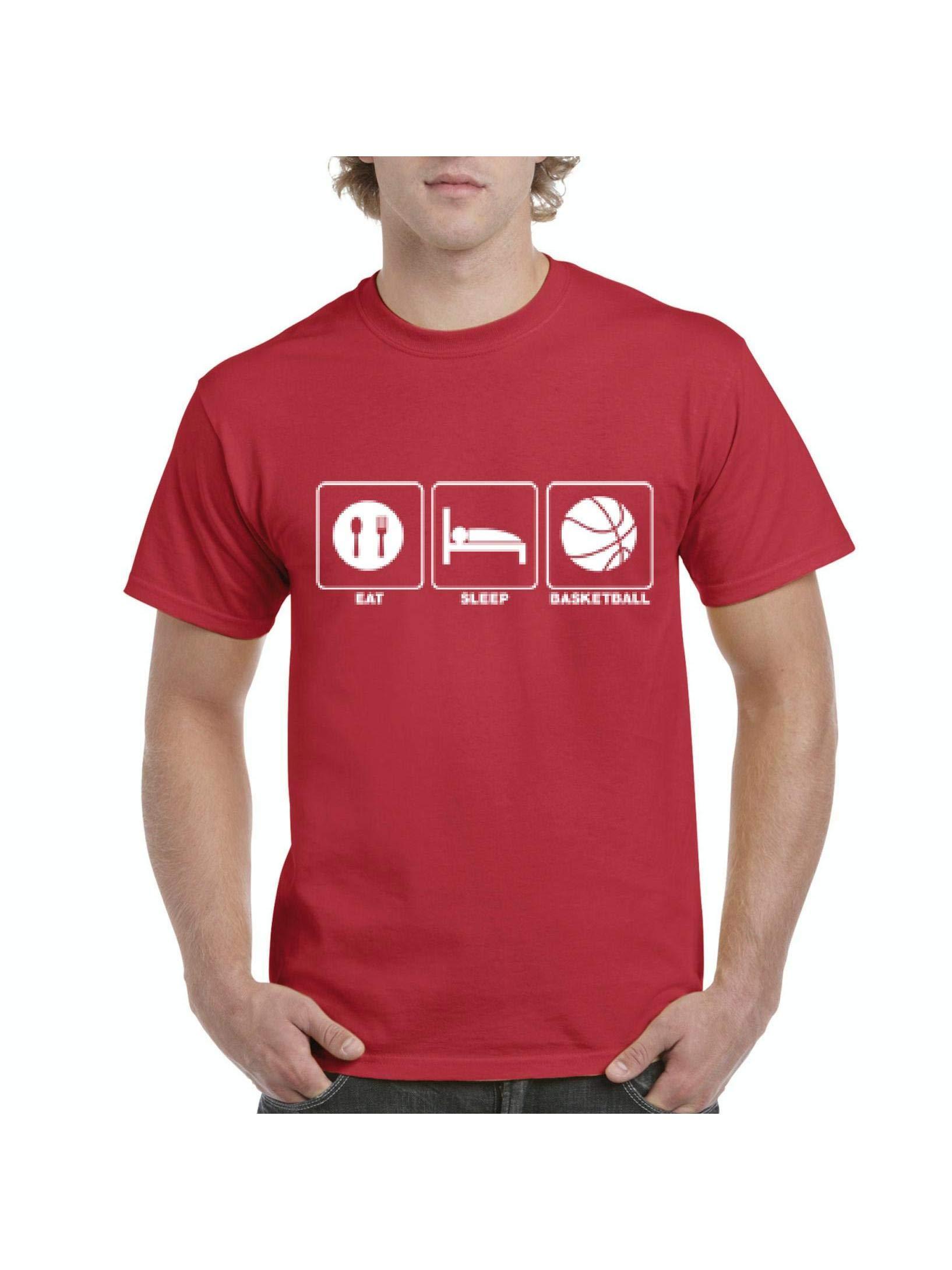 Eat Sleep Basketball Games Team Apparel Short Sleeve T Shirt 4858