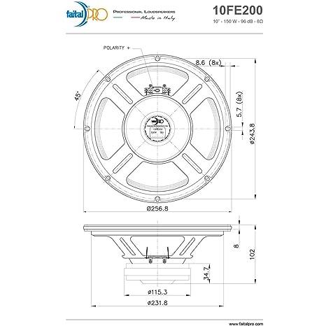 4 ohm dvc subs wiring diagram 4 wiring diagram database amazon pair faital pro 10fe200 10 quot woofer midrange open