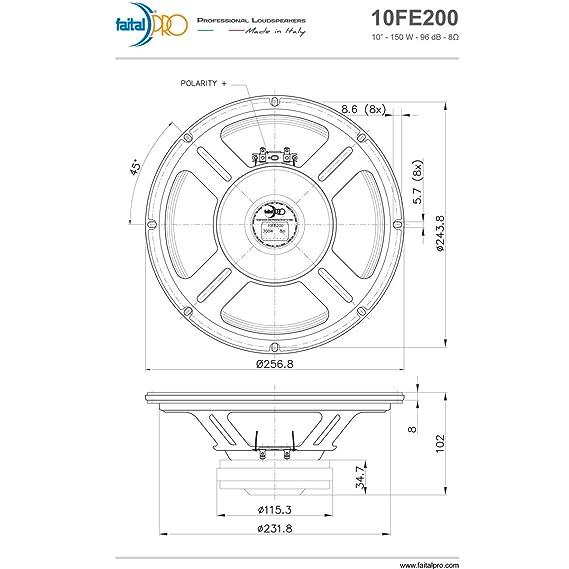 Amazon Com Pair Faital Pro 10fe200 10 Woofer Midrange Open Baffle