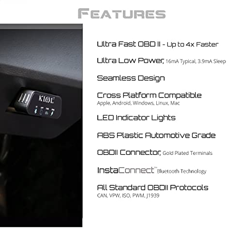 PLX Kiwi 3 is a compact and user-friendly OBD2 Bluetooth scanner due to it being a plug and play device.