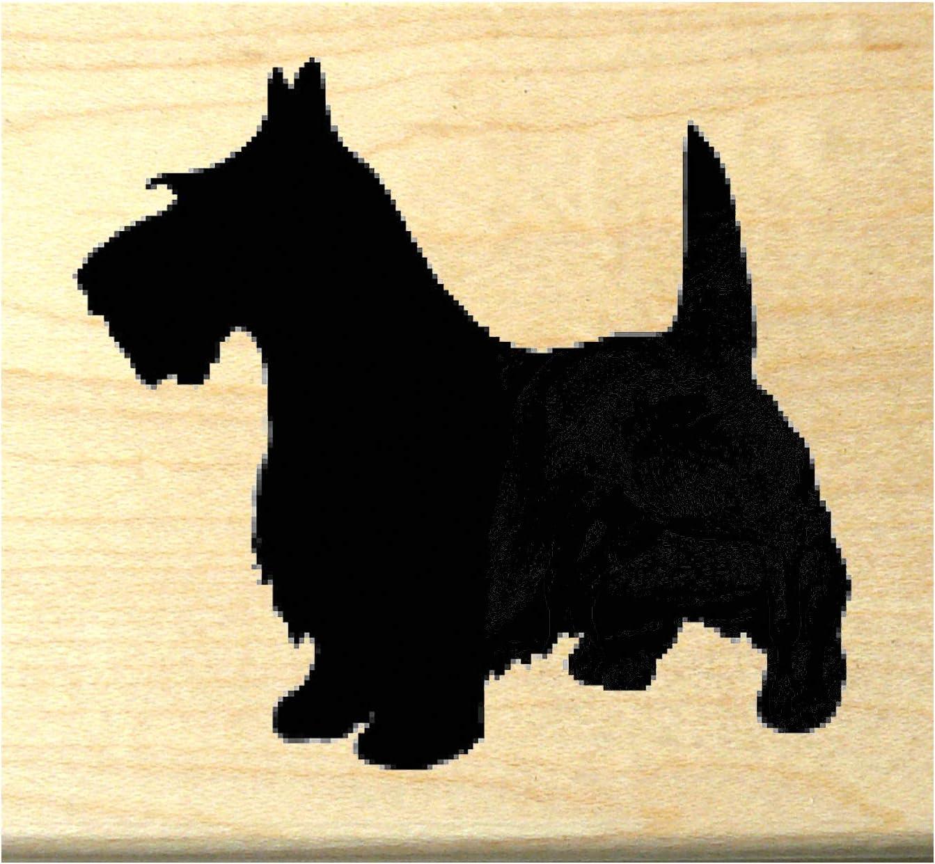 Black or White Baby Children Craft Scottie Dog Plastic with Shank X5