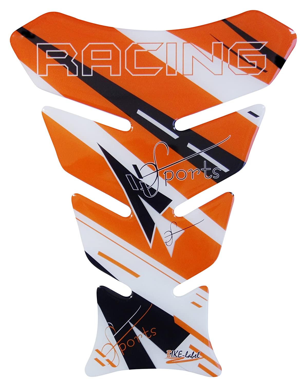 Paraserbatoio 3d –  501730 –  Racing Sport analogico KTM Orange/Orange –  Universale per Yamaha, Honda, Ducati, Suzuki, Kawasaki, KTM, BMW, Triumph e Aprilia Tanks Bike Label