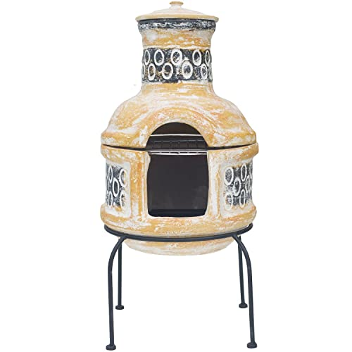 Clay Chiminea Barbecue 67030