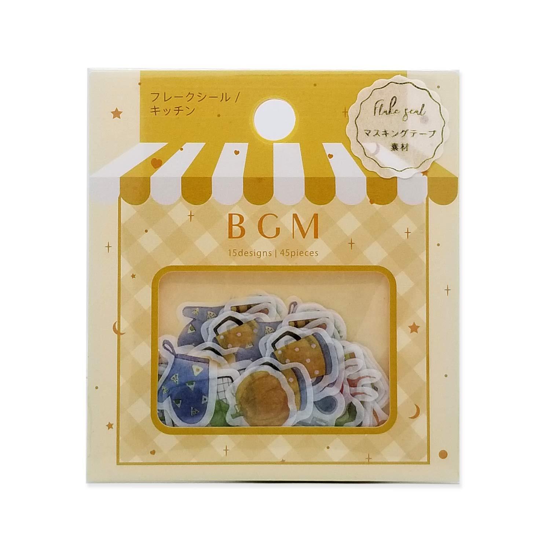 BGM Flake Stickers Flake Seal - Kitchen (Washi Tape Material) - for Scrapbooking Art Craft DIY