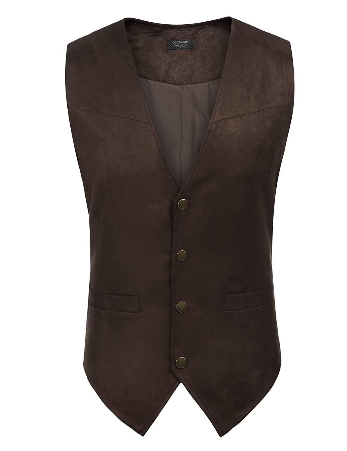 ccd80e4e7ade Coofandy Men\'s Cowhide Suede Vest Cowhide Suede Vest, supple and stylish  for everyday or dress-up wear!