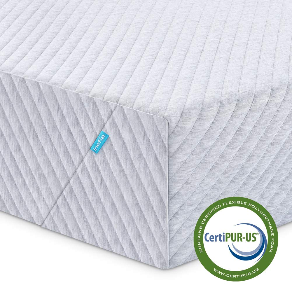 Twin Mattress, Inofia 8 Inch Memory Foam Single Mattress in a Box with Knitted Breathable Cover, Sleep Cooler & More Support, CertiPUR-US Certified, 100 Nights Trial, 10 Years Warranty by Inofia