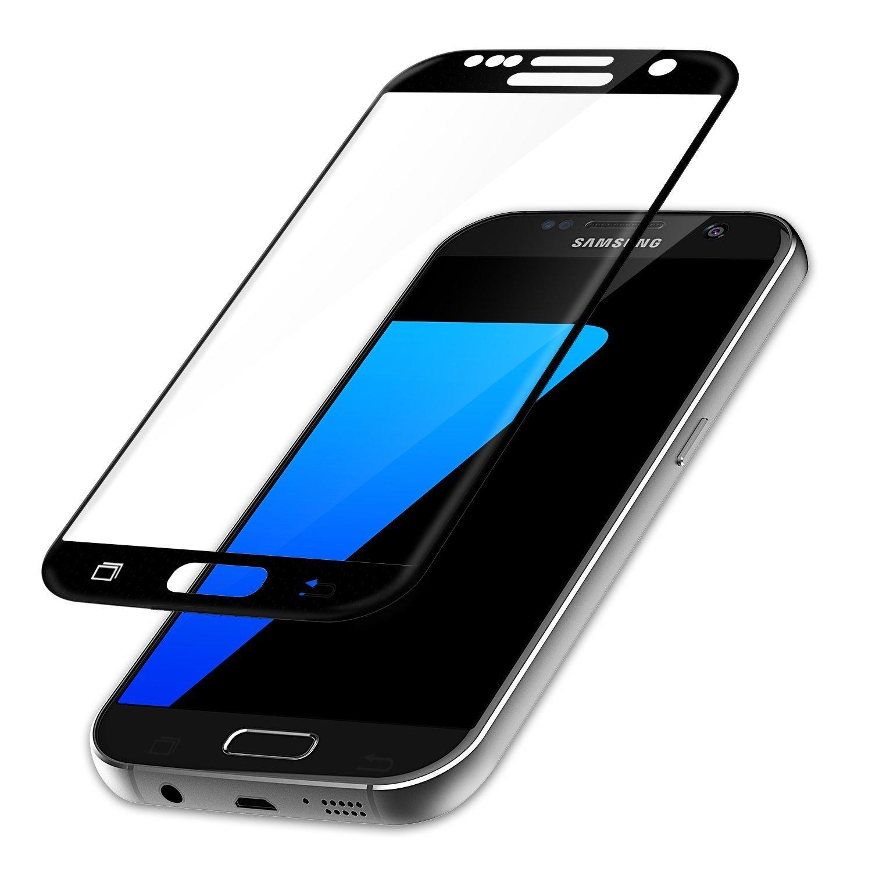 #2: NOVAGO® Film protection écran en verre trempé pour Samsung Galaxy S7 (couvre la totalité de l'écran) (Noir)