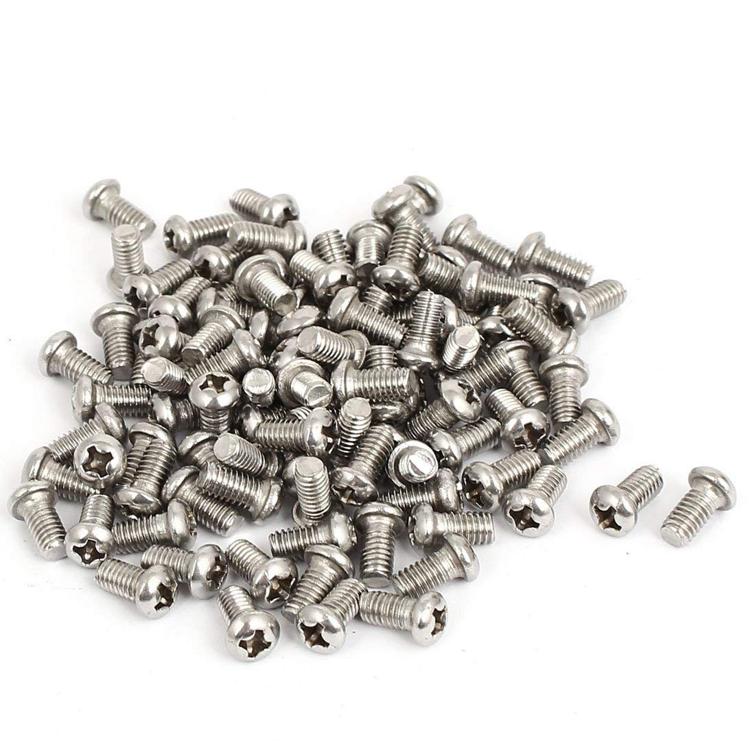 304 Stainless Steel Phillips Round Pan Head Machine Screws M2X5MM(100pcs)