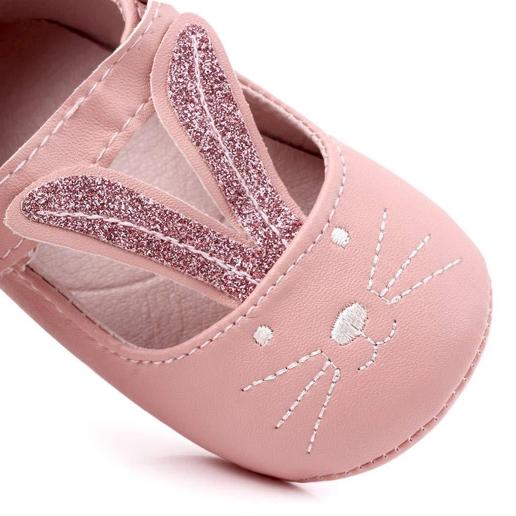 Luckycat Verano Zapatos para Beb/é Ni/ñas Zapatos de Primeros Pasos Antideslizante Pajarita Breathable Suela Blanda Tela de Cuero Zapatos de Ni/ñito De 1 Meses 3 Meses 6 Meses 9 Meses