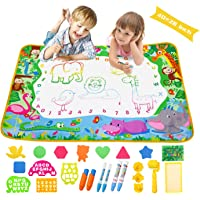 Aqua Magic Doodle Mat Extra Large Water Drawing Coloring Mat Mess Free Educational Kids Toy Gifts for Toddles Boys Girls…