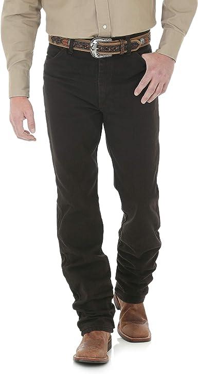 Amazon Com Wrangler Pantalon De Mezclilla De Corte Ajustado Para Hombre 33 Blk Choc Clothing