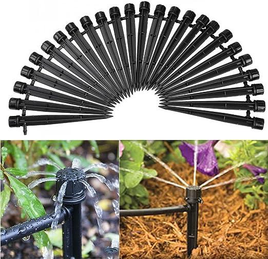 50X Micro Jardin Pelouse Eau Buse De Pulvérisation Arroseur Irrigation System 360 degré