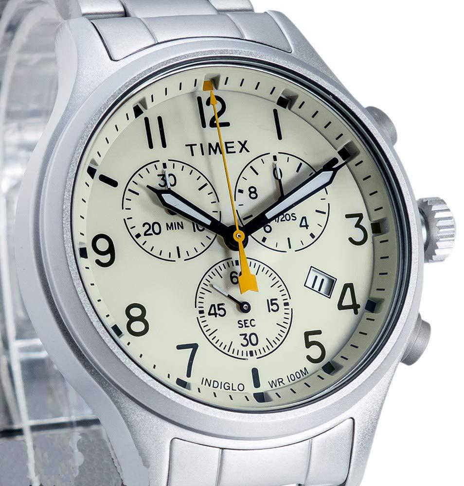 Timex herr kronograf kvartsklocka allierad Silver/Beige