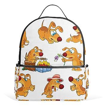 COOSUN Emoji iconos de los perros mochilas escolares mochilas para Niños Niñas Adolescentes Niños Medio Multi # 3: Amazon.es: Equipaje