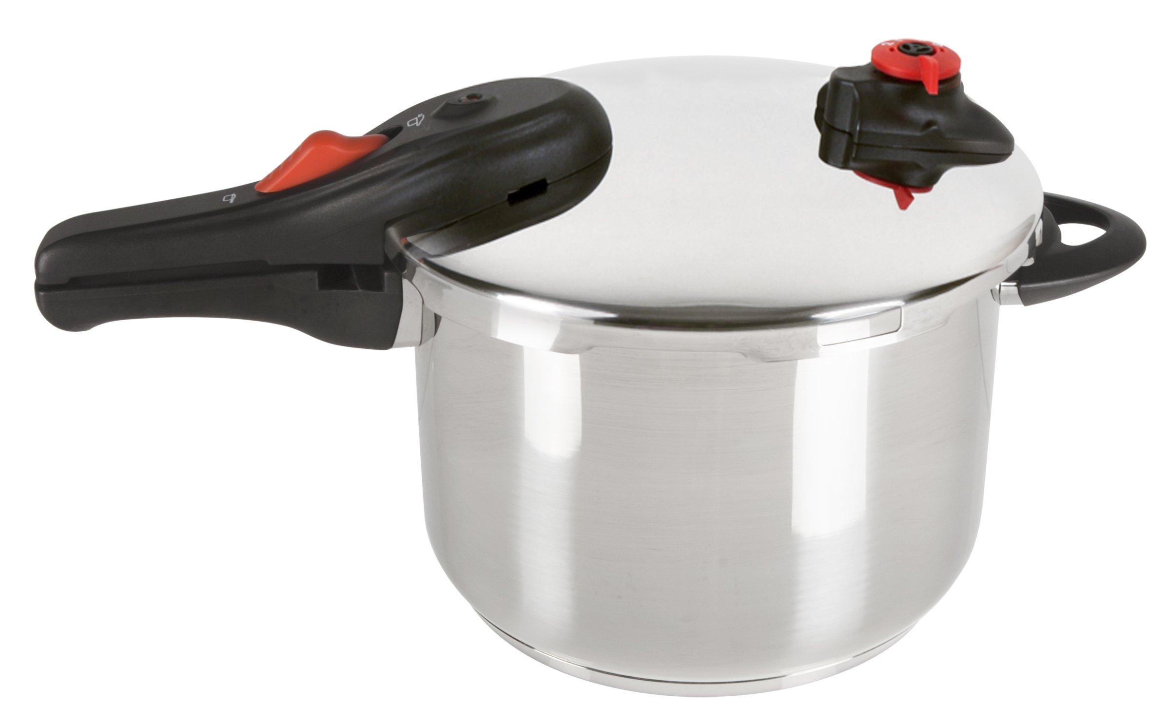 NuWave 31201 stainless steel pressure cooker, 6.5 Quart, Silver by NuWave