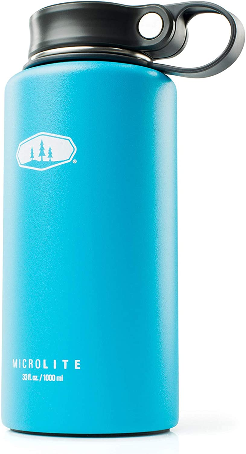 GSI Outdoors - Microlite 1000 Twist 33 fl.oz. Vacuum Insulated Stainless Steel Water Bottle