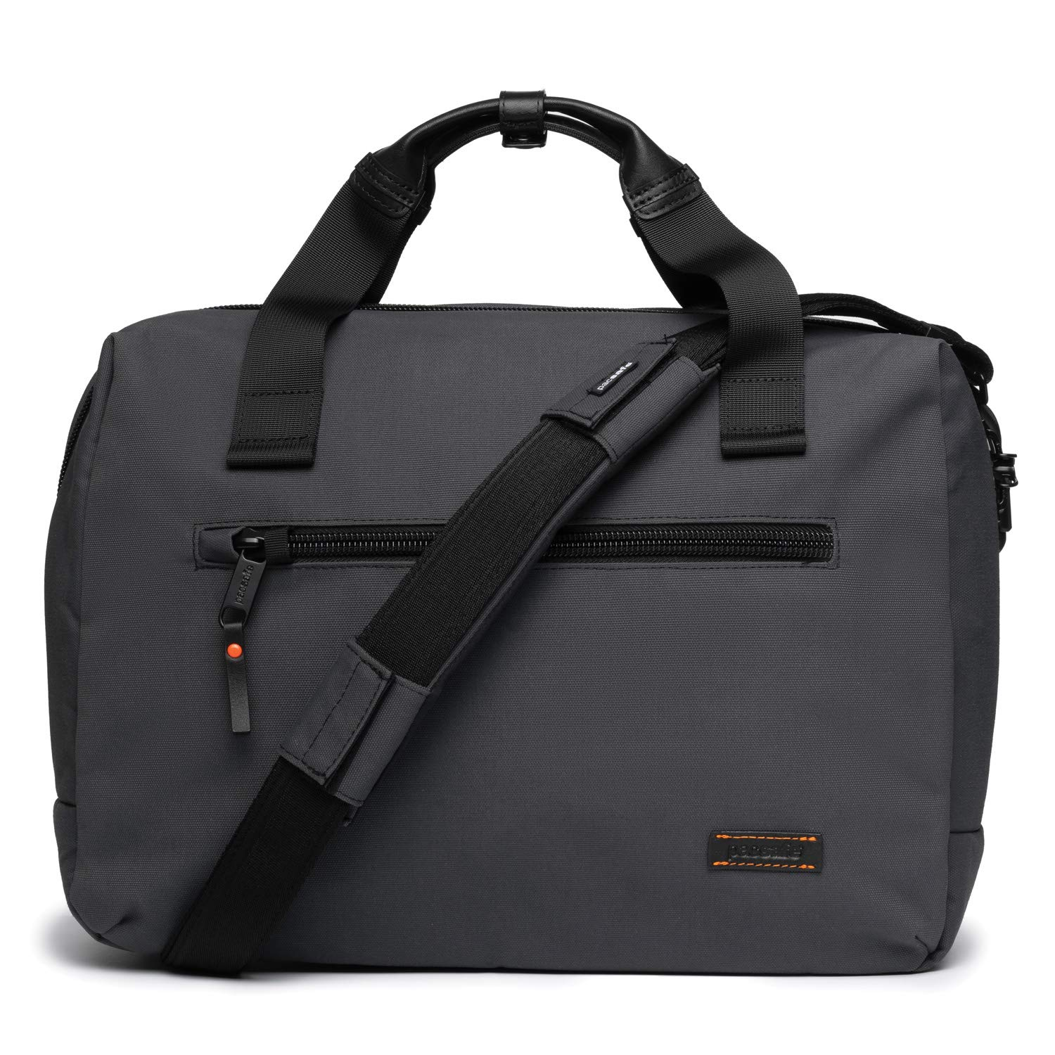 PacSafe Men's UNbox Therapy x Anti Theft Briefcase-with Padded 15'' Laptop & Tablet Sleeve, Charcoal by Pacsafe