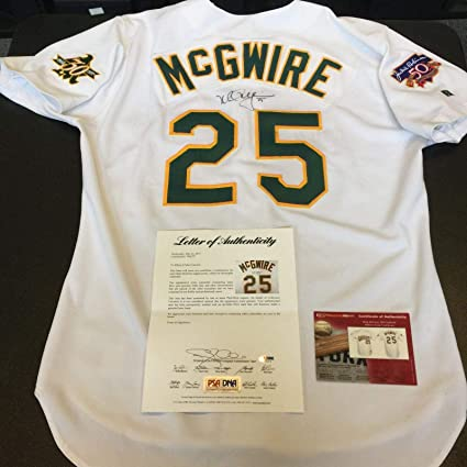 740928aea 1997 Mark McGwire Signed Game Used Oakland A s Athletics Jersey With COA -  PSA DNA