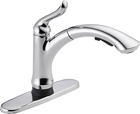 Delta Faucet 4353T DST Linden Single Handle Pull Out Kitchen Faucet With  Touch2O Technology