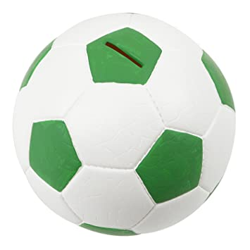 bfc8cdb99c101 HMF 4790-06 Spardose Fußball Lederoptik 15 cm Durchmesser, grün weiß