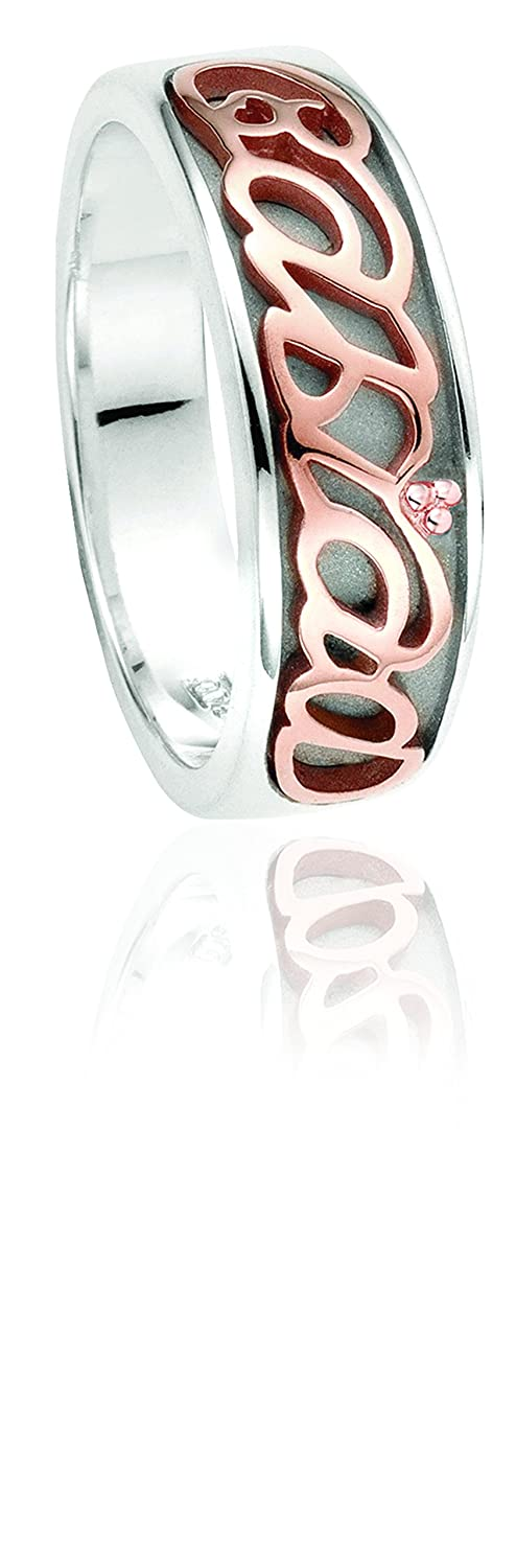 Clogau Gold Sterling Silver and Rose Gold Cariad Ring WHEauLn