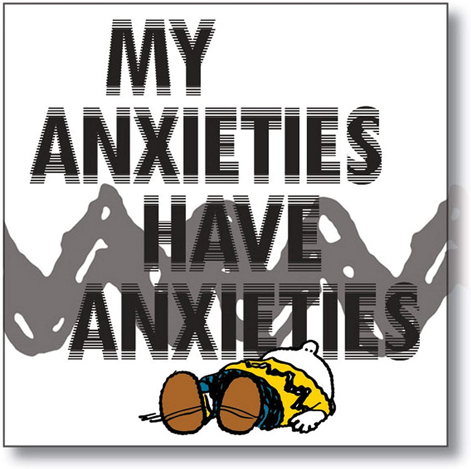 "Department 56 Peanuts ""My Anxieties Magnet, 3.5 Inches, Multicolor"
