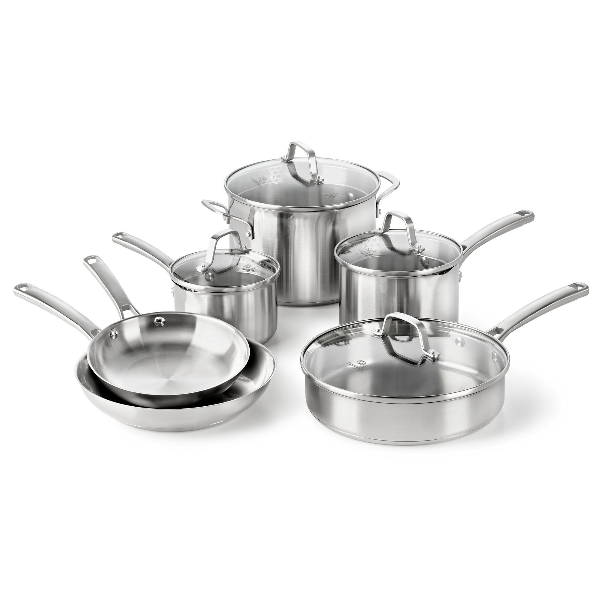 Calphalon Classic Stainless Steel Cookware Set, 10-Piece