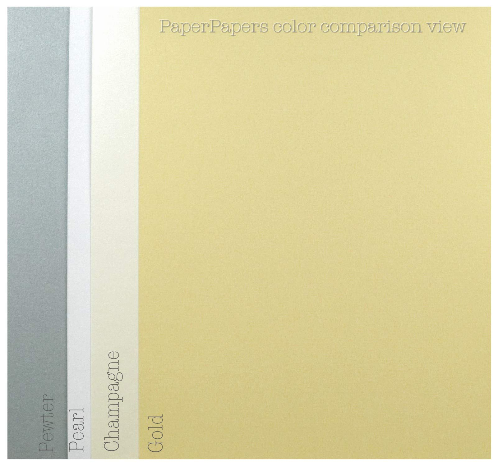 Shimmer Off-White Champagne Digital 12-x-18 32T Lightweight Multi-use Paper 200-pk - PaperPapers 2pBasics 118 GSM (32/80lb Text) Large size Everyday Metallic Paper for Professionals, Designers and DIY by 2pBasics