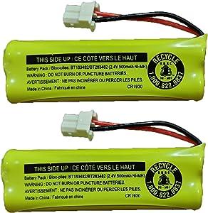 JustGreatDealz Battery BT183482 BT283482 for Vtech Cordless Telephones CS6114 CS6409 CS6419 DS6401 DS6421 DS6422 DS6423 DS6424 DS6425 DS6426 DS6472 LS6405 LS6425 LS6426 LS6475 LS6476 (2-Pack)