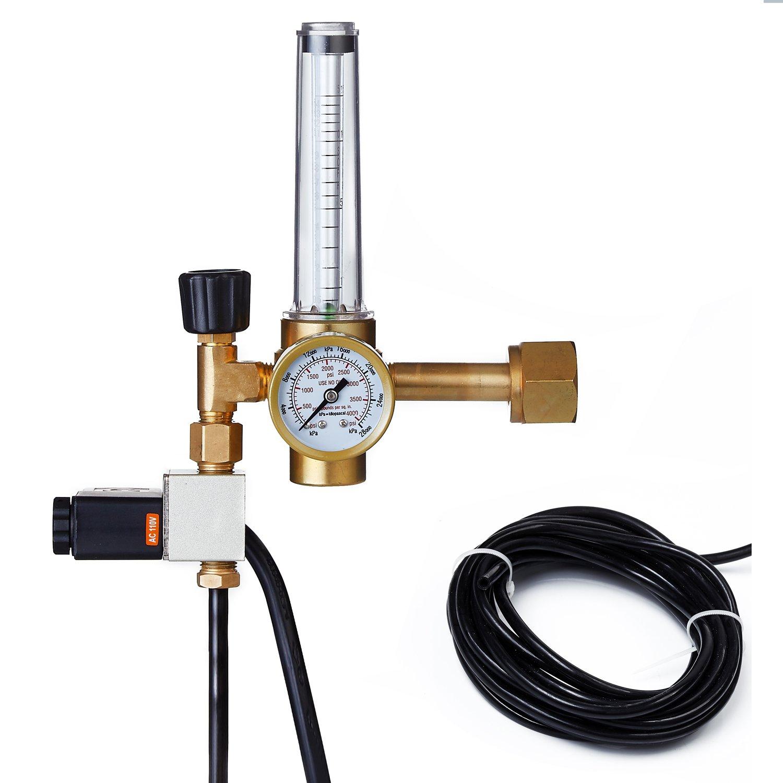 Oppolite Hydroponics CO2 Regulator Emitter System with Solenoid Valve Flowmeter for Grow Room Grow Tent Green House Aquarium