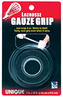 Unique Lacrosse Gauze Grip Unique Sports Products Inc LGT-BK