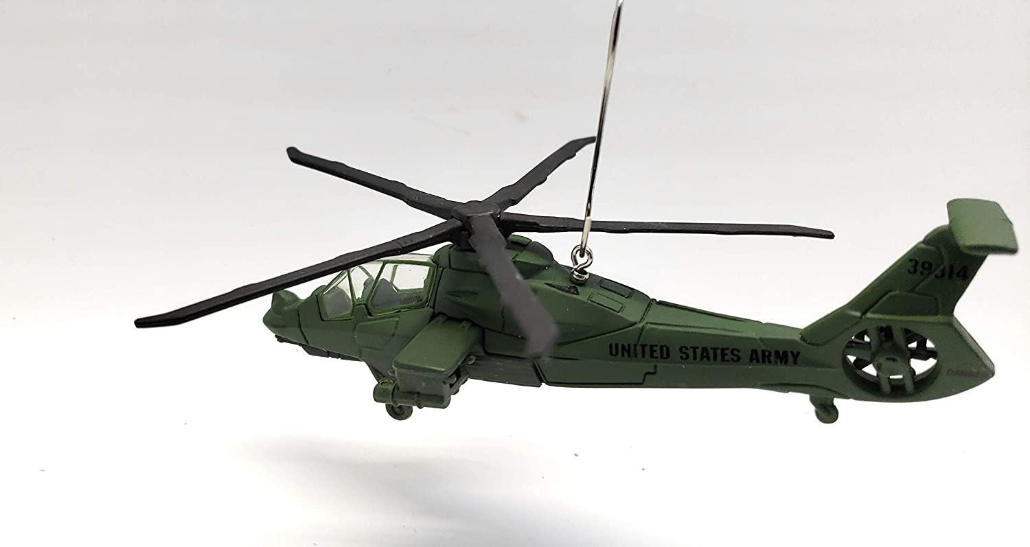 Boeing–Sikorsky RAH-66 Comanche Helicopter Aircraft Custom Christmas Ornament Green