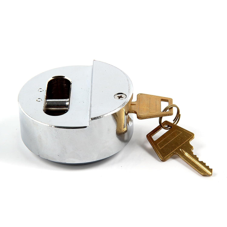 Garden Mile/® White Van Security Lock Garden Shed Padlock 73mm Shacklless Padlock Hasp Set