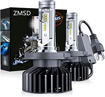 2-Pack ZMSD H4/9003/HB2 60W 12000 Lumens LED Headlight Bulbs