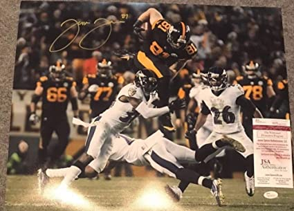 Jesse James Autographed Signed Pittsburgh Steelers 16x20 Photo - JSA  Authentication 53652c42e
