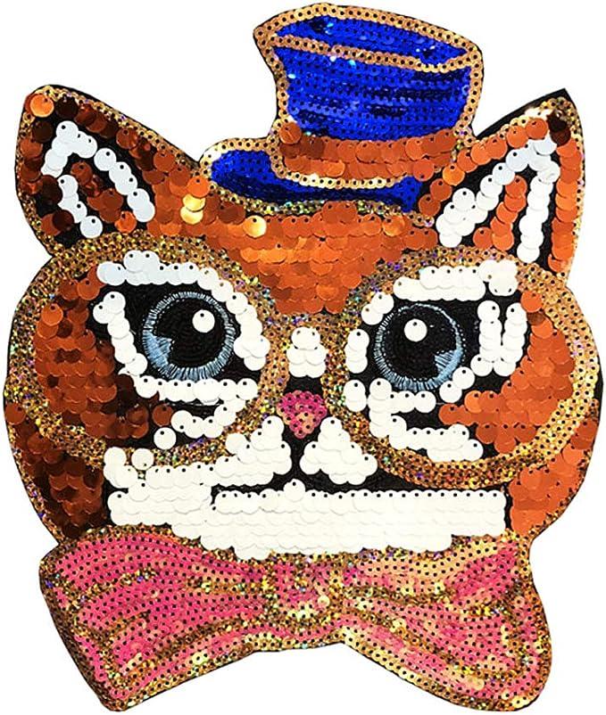 S-TROUBLE - Parche Bordado de Lentejuelas para Gato, para