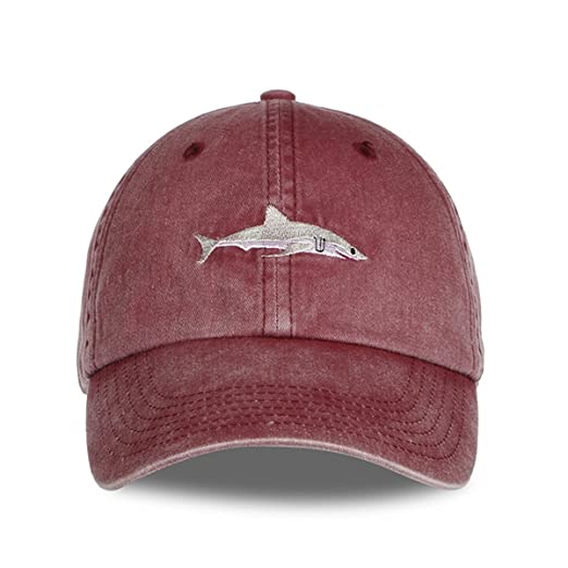 1d43f1e8d8b Himozoo Women Men Baseball Cap 100% Cotton Washed Shark Embroidery Dad Hat  (Black)  Amazon.co.uk  Clothing