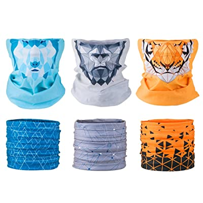 808 Ave Men's Motorcycle Face Mask - Seamless Tube Headband Biker Apparel Multi-Functional Neck Gaiter Bandana Balaclava Head Scarf for Outdoor Skiing, Fishing, Hunting Face Mask - Set of 6