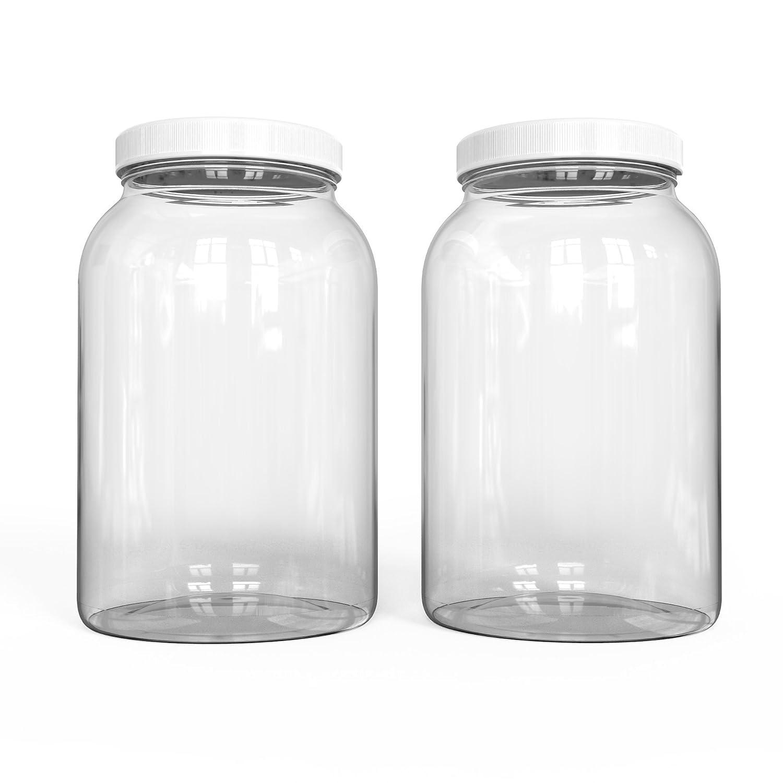 Amazoncom Kombujars 1 Gallon Glass Jar 4 Pack Airtight Lined