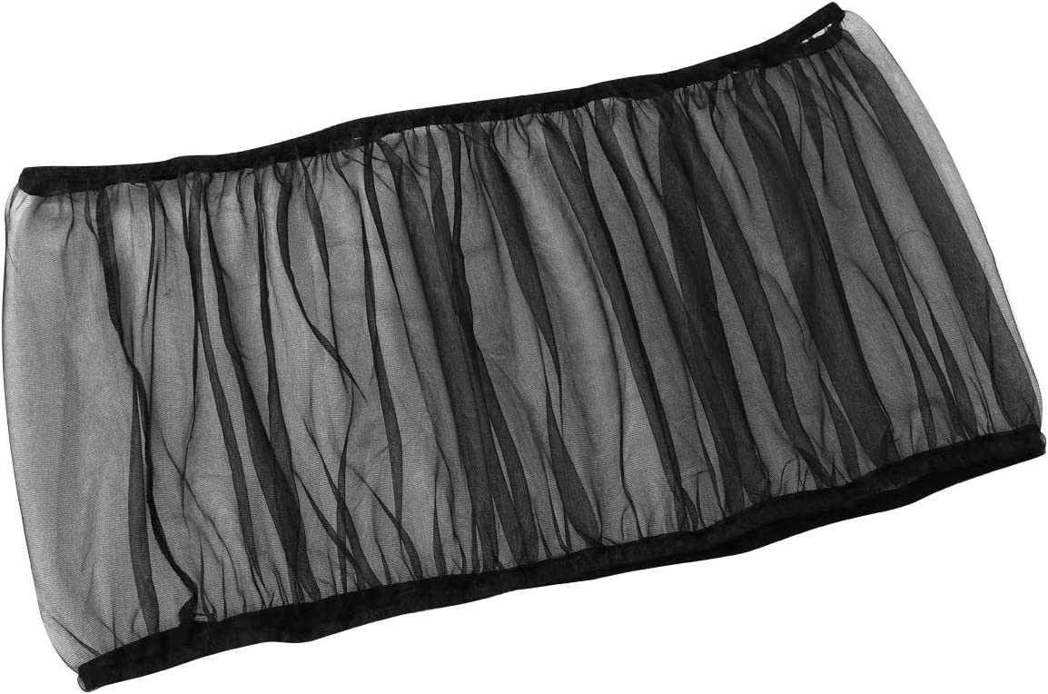 UEETEK Seed Catcher Guard Cage Tidy Bird Cage Cover Skirt (Black)