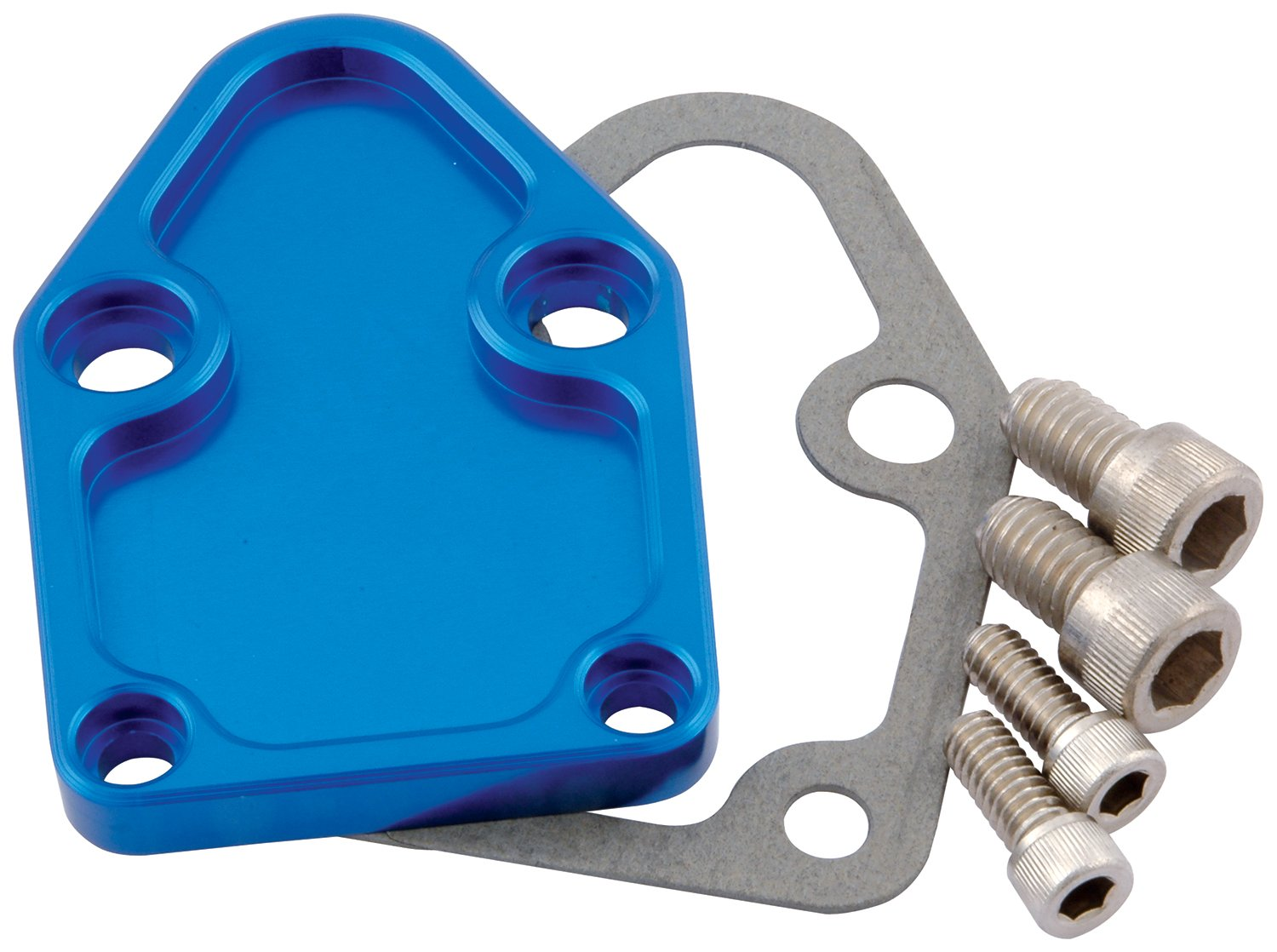 Allstar Performance ALL40303 Blue Fuel Pump Block-Off Plate for BB Chevy