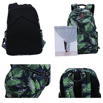 78e59eb62288 Amazon.co.jp: Mocha weir JIAYBL 子供スクールガールレディースレディースバックパック (緑): 文房具・オフィス用品