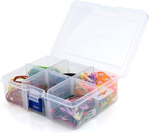Hangerworld Caja Organizadora de Plástico Transparente con Seis ...